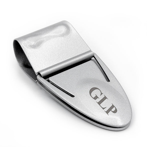 Mini Geneva Cash Clamp® - Silver Titanium - No Wallet - Engraved