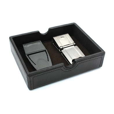 Valet Tray - Cabretta Brown Leather