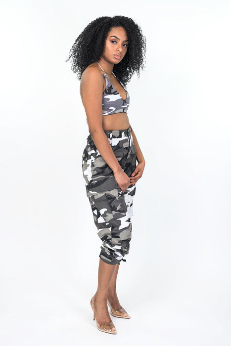 Grey Nikki Camo Pants