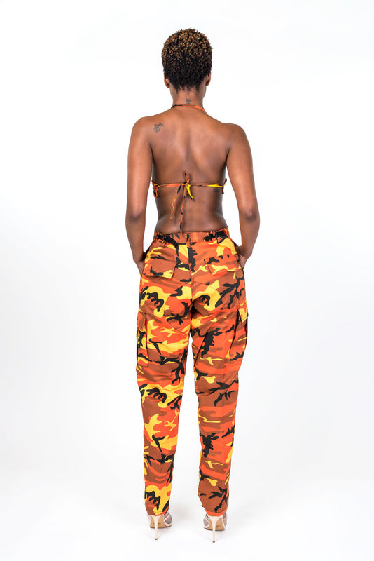 Orange Nikki Camo Pants