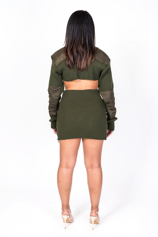 Green Knit Collection Skirt