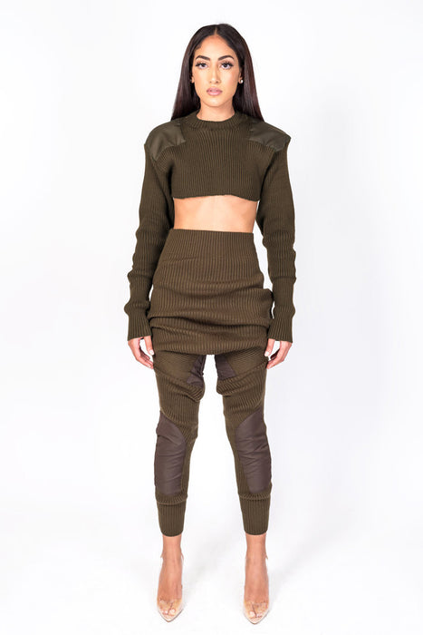 Brown Knit Collection Jogger