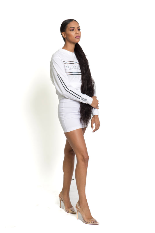 White Plugged Nation Long Sleeve