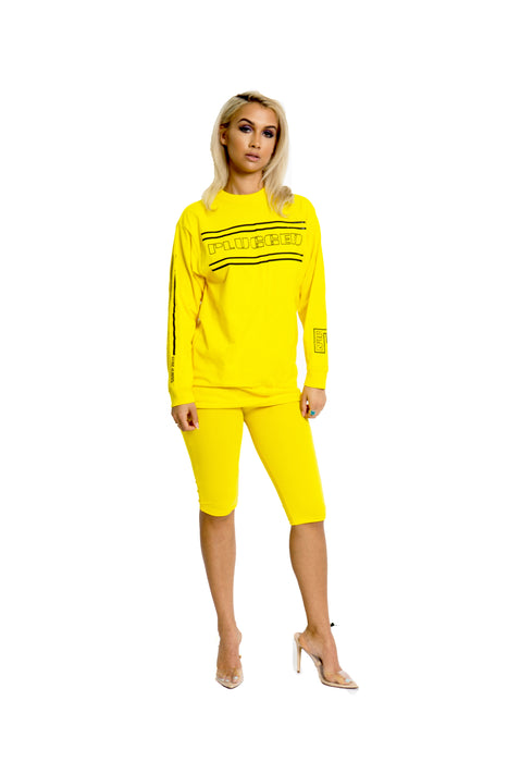Yellow Plugged Nation Long Sleeve