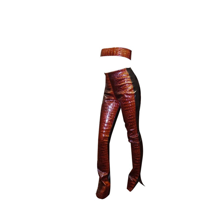 Red Snake Pants