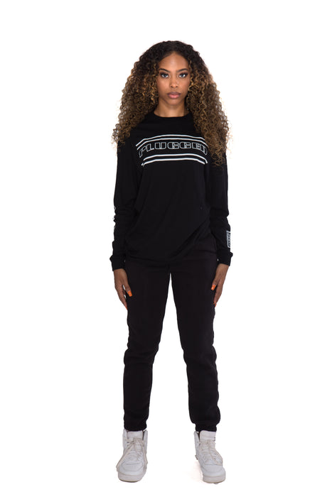 Black Plugged Nation Long Sleeve