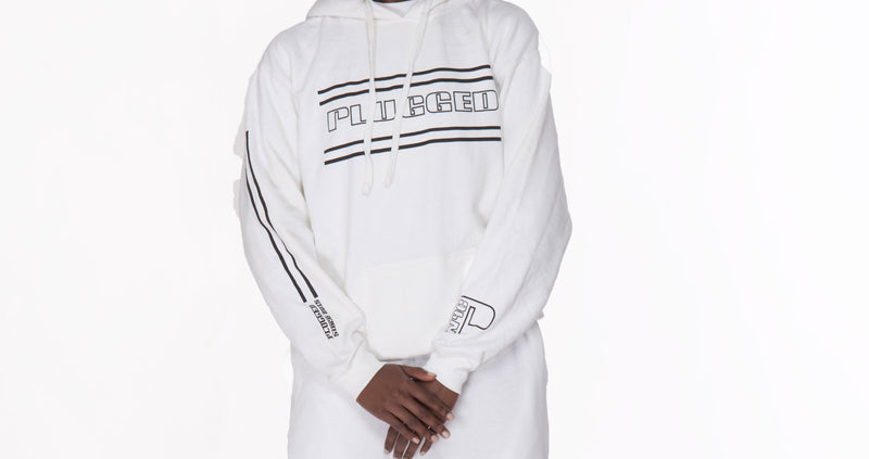 White Plugged Nation Hoodie