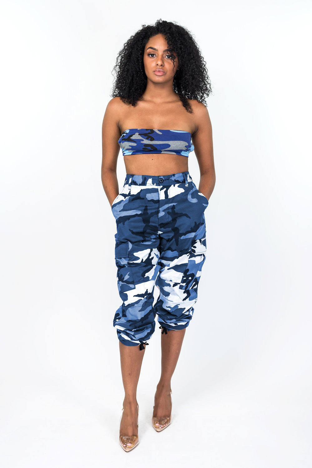 Blue Nikki Camo Pants