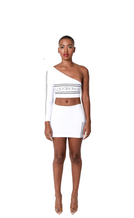 Plugged Nation White Skirt