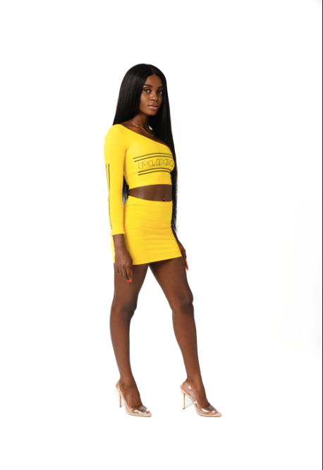 Plugged Nation Yellow Skirt