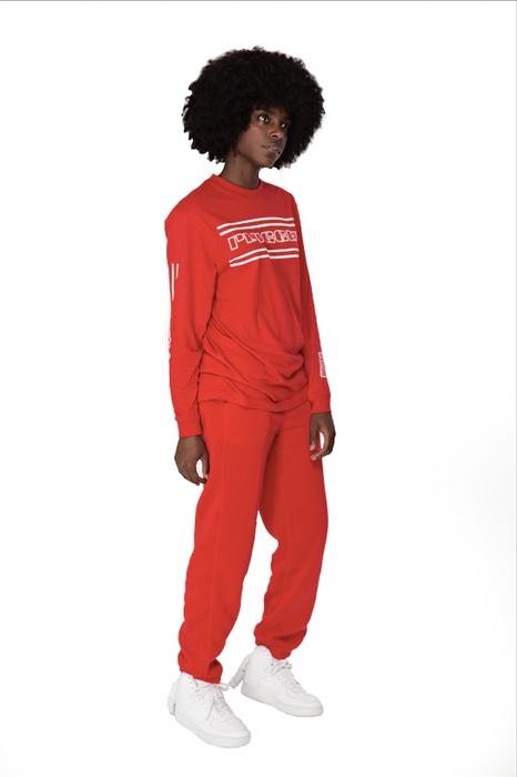 Red Plugged Nation Longsleeve