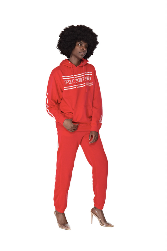 Red Plugged Nation Hoodie