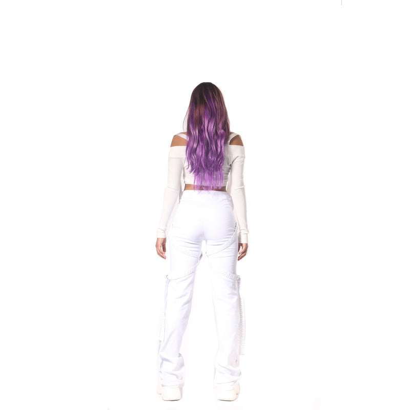Plugged Lace Combat Pants