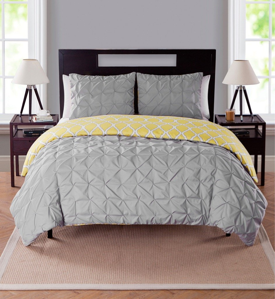 decor dp duvet piece chic pinch pleat nice home queen cover a veronica pinched white set pintuck night