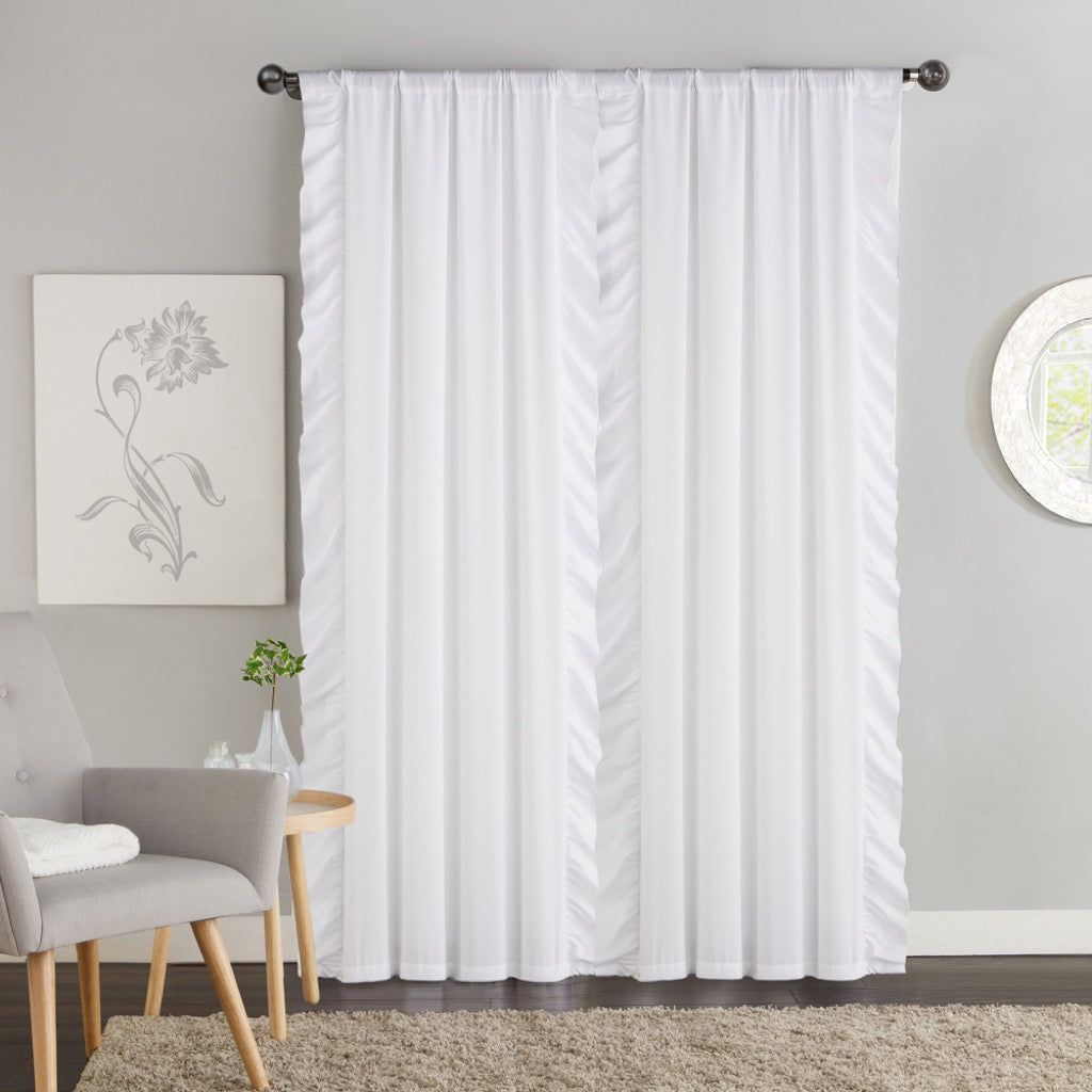 VCNY Home Amber Ruffle Blackout Curtains Set Of 2