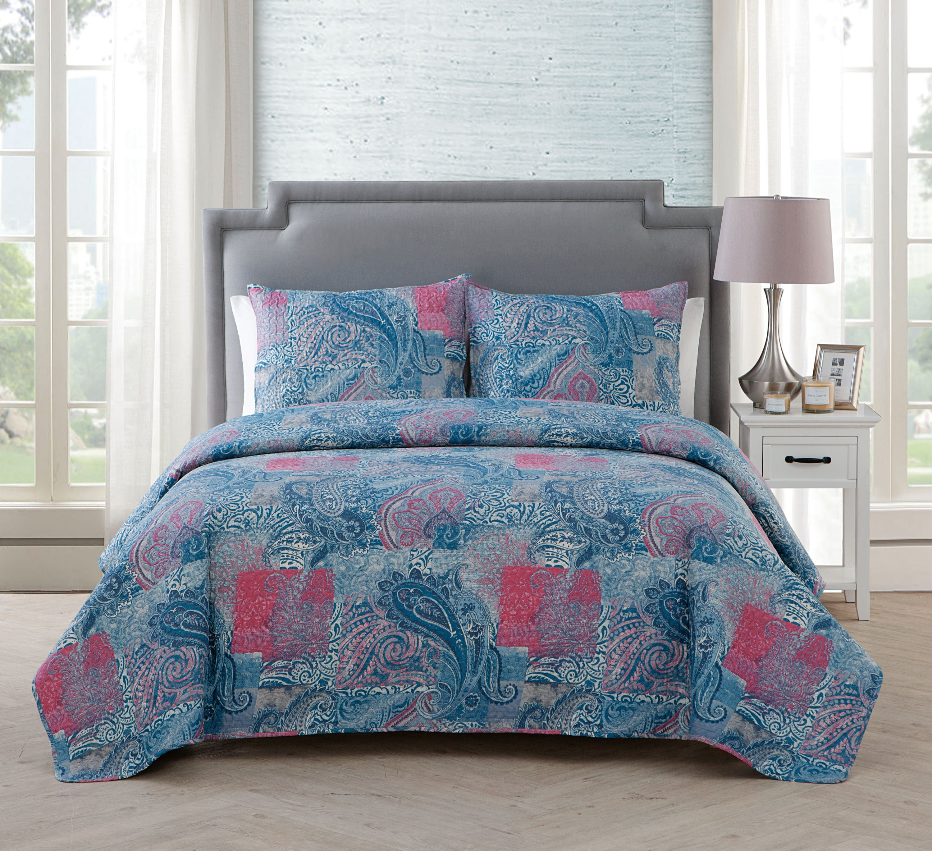 queen white blue teal covers pink pattern turquoise size bedding overstock black of set online full comforter paisley polka and duvet red cover dot