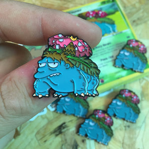 Barneysaur Pin, Sticker and Trading Card