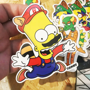 Bario Super Springfield Bros Sticker