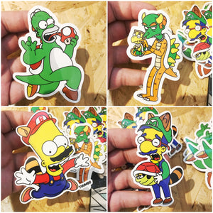 Mr Burnser Super Springfield Bros Sticker