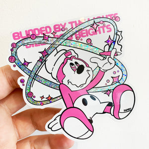 Blinded By The Lights Glitter Sticker