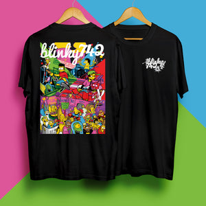 Blinky 742 Back Print T-Shirt