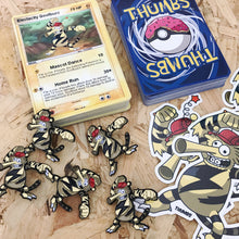 Electacity Goofbuzz Pin, Sticker and Trading Card