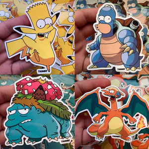 Springfield Pocket Monster Sticker Bundles