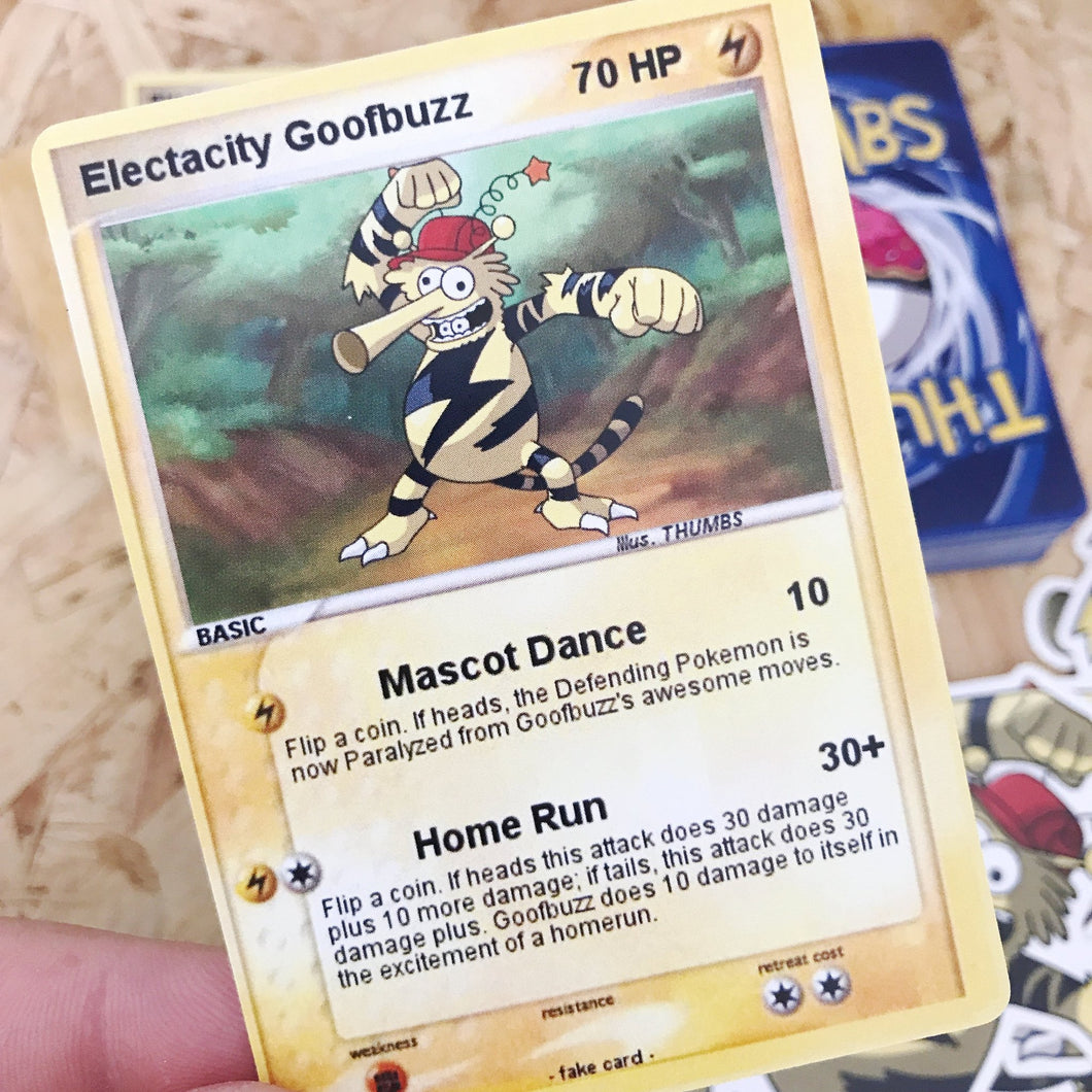 Electricity Goofbuzz Trading Card