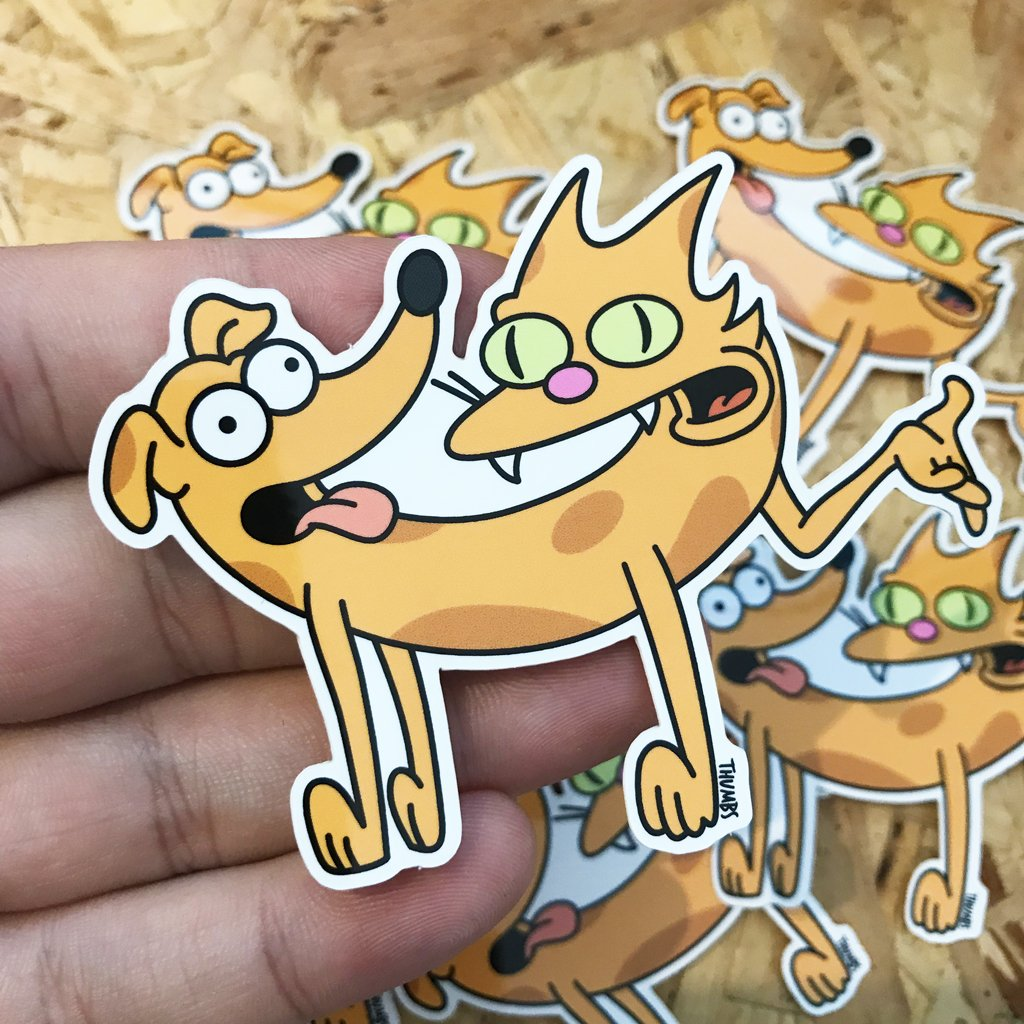 Catt Dogg Sticker