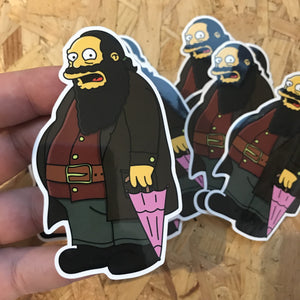 Comic Book Hagrid Hogfield Sticker