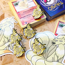 Coyotails Pin, Sticker and Trading Card