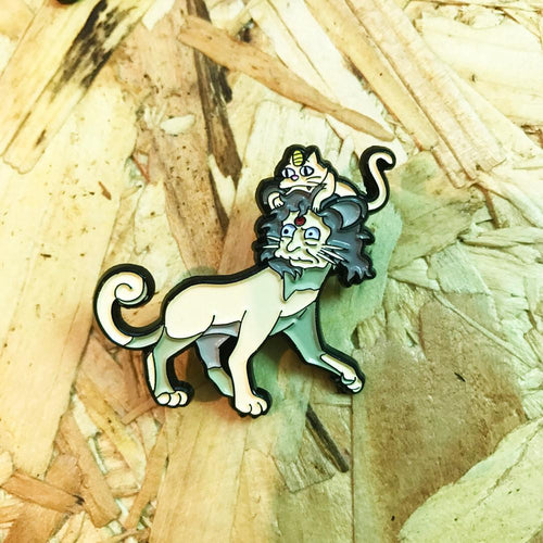 Crazy Cat Persian Pin, Sticker and Trading Card