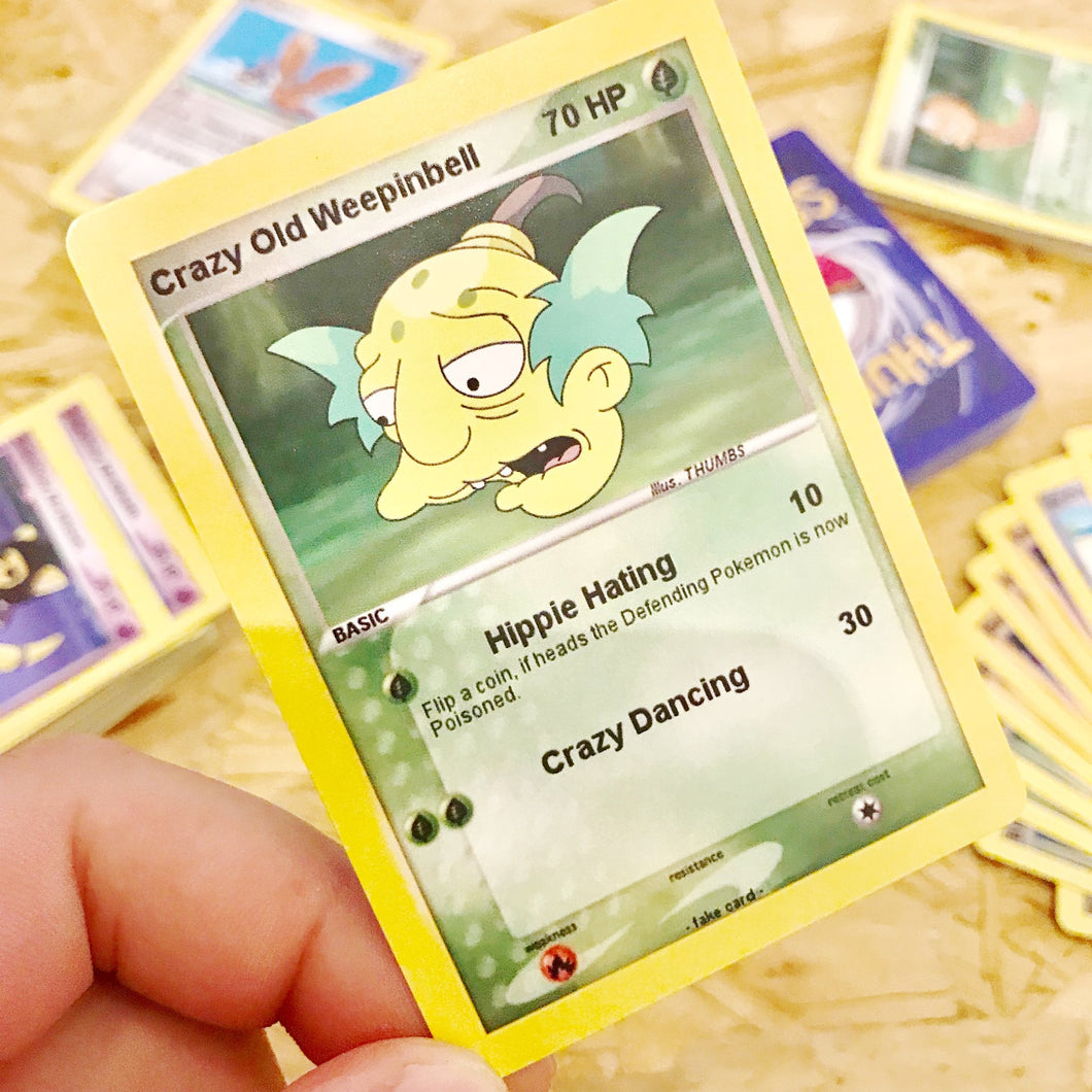 Crazy Old Weepinbell Trading Card
