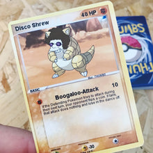 Disco Shrew Pin, Sticker and Trading Card