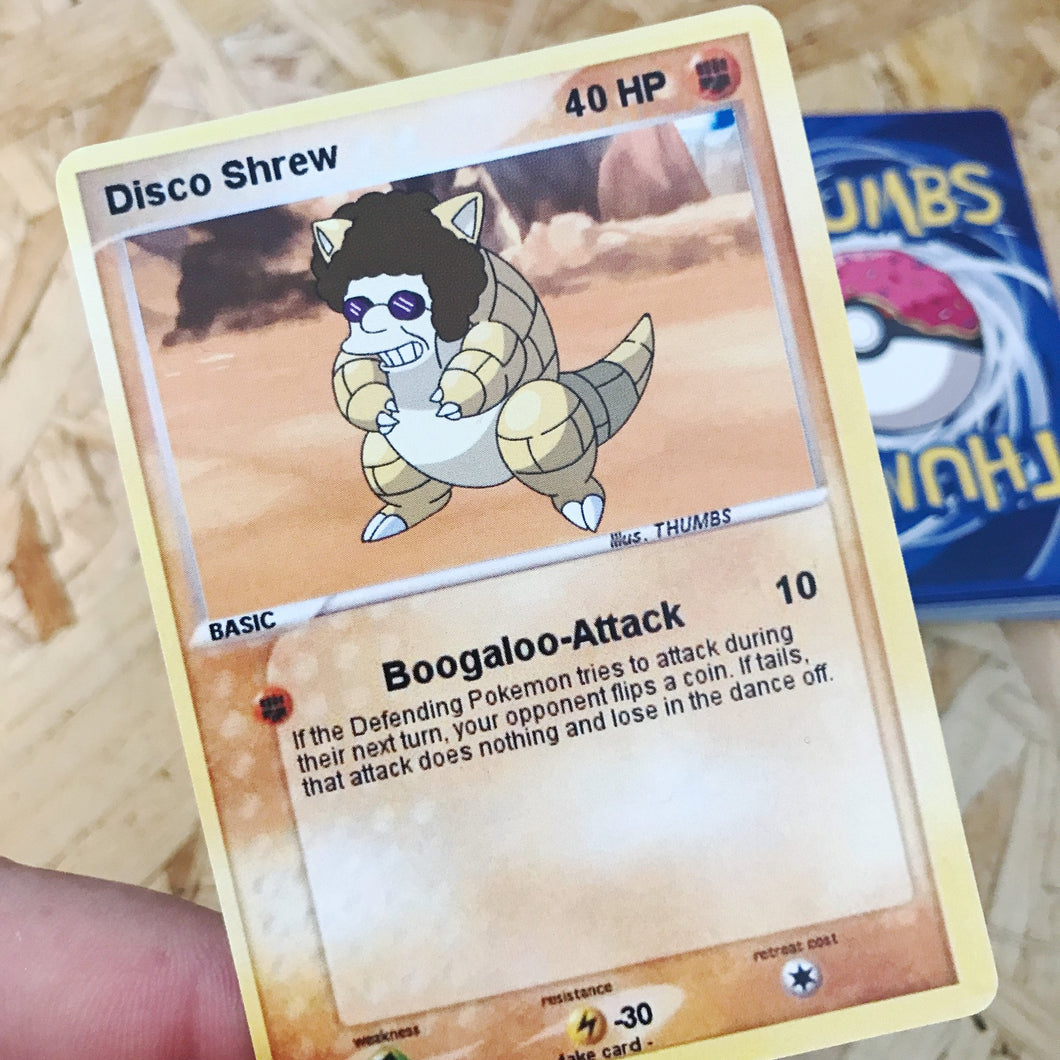 Disco Shrew Trading Card