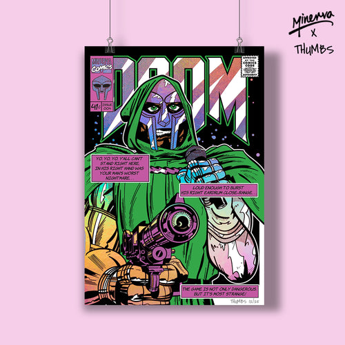 DOOM Holo Foil Limited Edition Art Print - SOLD OUT