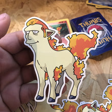 Fat Ponyta Pin, Sticker and Trading Card
