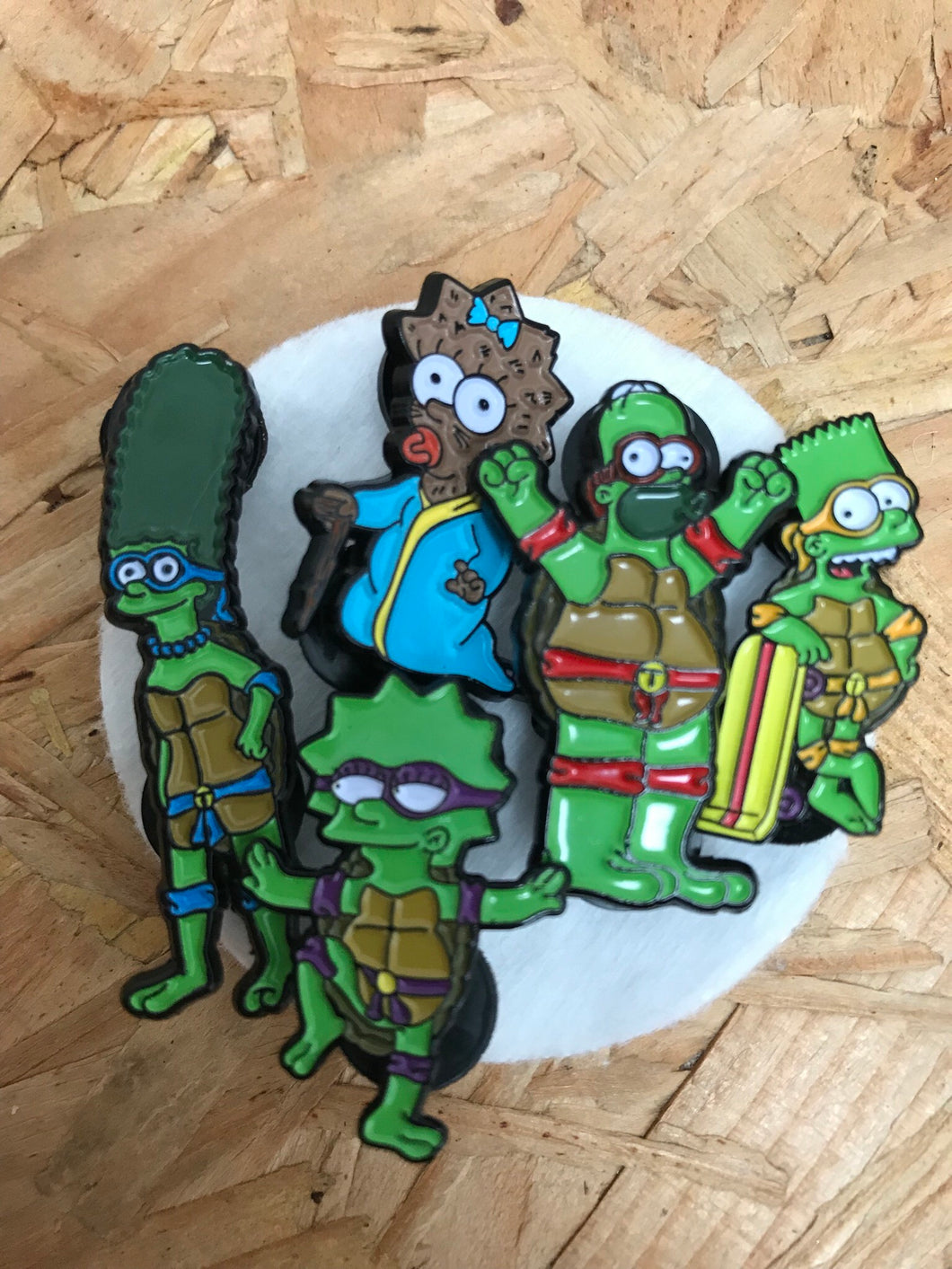 Springfield TMNT Seconds Pin Set