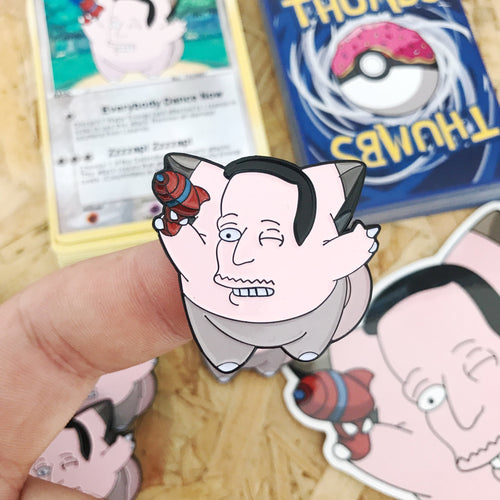 Clejohnfairy Pin, Sticker and Trading Card