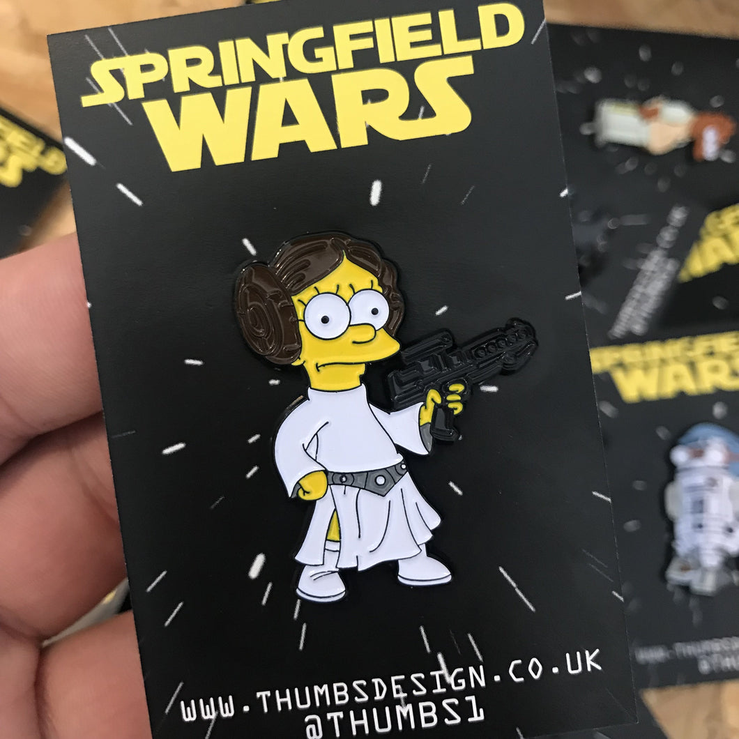 Princess Leisa Springfield Wars Pin