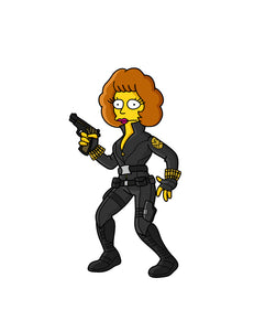 Black Widmaude Springfield Endgame Pin Badge