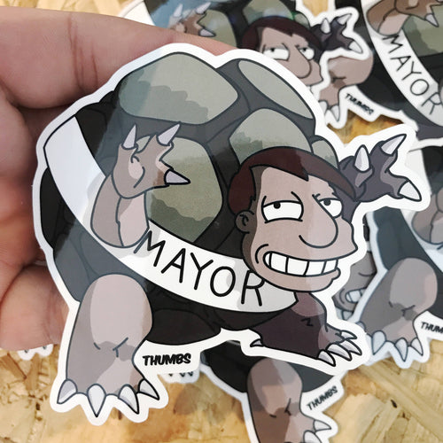 Mayor Joel Quimby Sticker