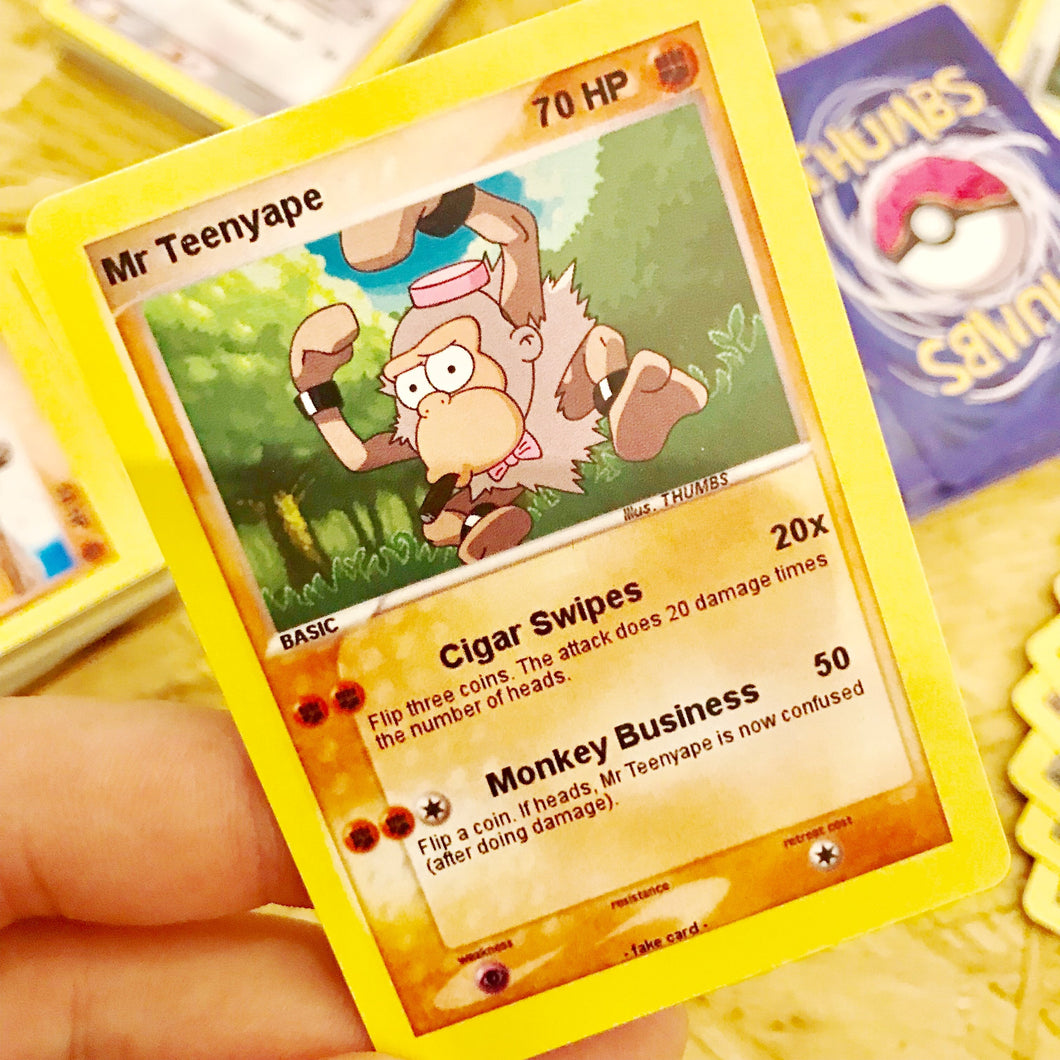 Mr Teenyape Trading Card