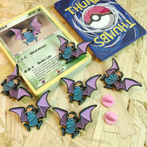 Gottobat Pin, Sticker and Trading Card
