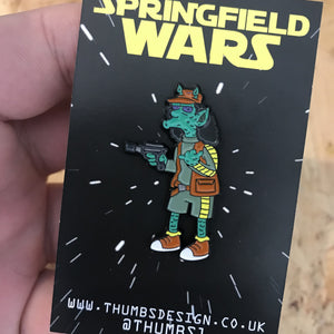 Grotto Springfield Wars Pin