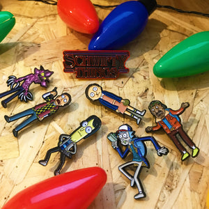 Schwifty Things Pin Badge Set