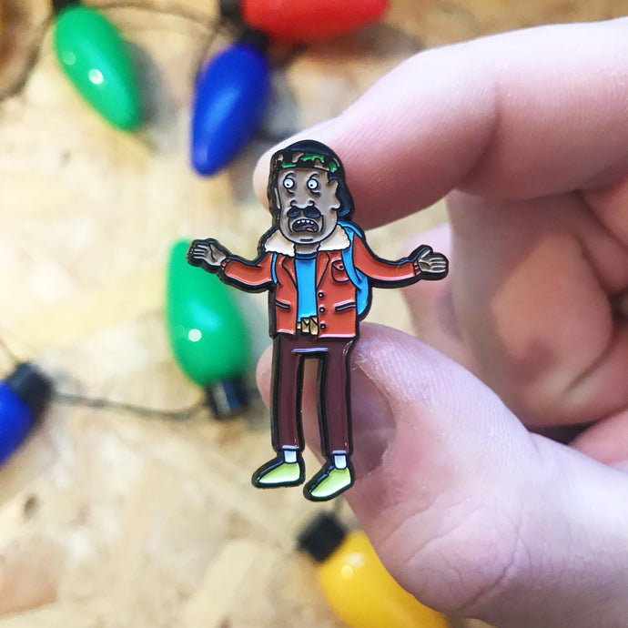Mr Goldenfold x Schwifty Things Pin Badge