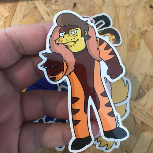 Snakertooth Springfield Mutants Sticker