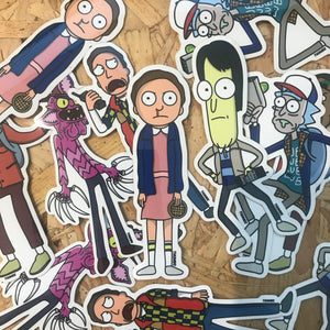 Morty x Schwifty Things Vinyl Sticker