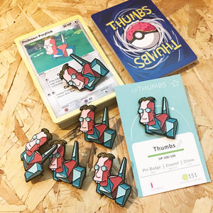 Professor Poryfrink Pin, Sticker and Trading Card